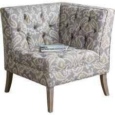 Meliso Tufted Corner Chair