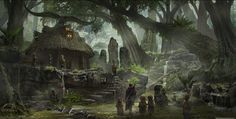 ArtStation - Chaos in the old World: Shamans Hut , Marco Gorlei