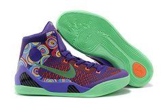 "NBA Nike Kobe 9 Elite Mens Training Shoes - High Top - ""Purple Venom"" Vivid Pink and Turf Orange Colorway"