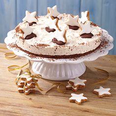 Wenn ihr gerne Zimtsterne esst, werdet ihr unsere Zimtsterntorte lieben. #Bahlsen #Rezept #Torte #backen #Kuchen #LifeIsSweet #Christmas #Weihnachten #Dessert