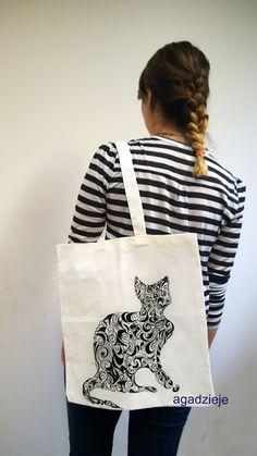 agadzieje: Torby ręcznie malowane ( kot, baletnica i Ciastecz...