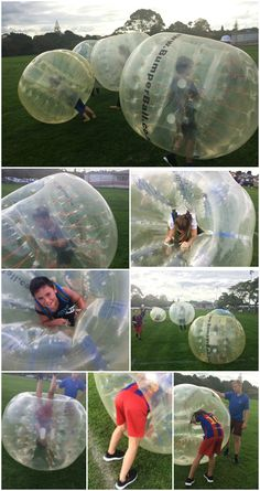 Bumper Ball (Bubble Soccer) is fabulous Fun! Bubble Soccer, Sports Party, 8th Birthday, Playground, Bubbles, Party Ideas, Fun, Children Playground, 8th Anniversary