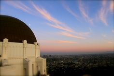 Griffith Observatory on a summer night @ sunset