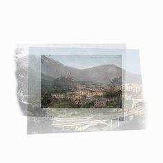 Galerie Piece Unique - Panorama da Rotolo  1845-1930-2012   cm 30 x 30 - Digital print on Dibond, Edition of 7  MAS 033