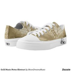 #GoldMusicNotes Abstract #ZIPZ #LowTopSneakers by #MoonDreamsMusic