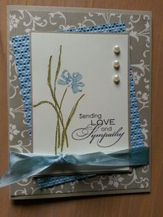 DIM Sympathy for Tammie by jdmeeks - Cards and Paper Crafts at Splitcoaststampers