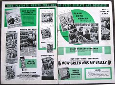 How Green was My Valley Pressbook inside