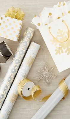 As unique as a snowflake. And just as beautiful! Create an elegant presentation with wrapping paper and ribbons touched with silver and gold.