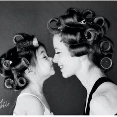 This would be cute with a daughter and mommy hairstylist