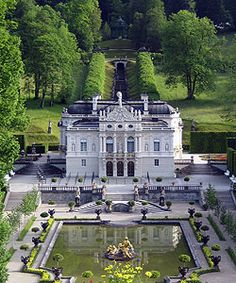 Linderhof Palace, one of the Palaces developed by Ludwig II of Bavaria