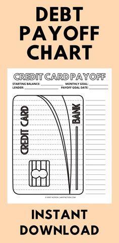 Do you want to pay off your credit card faster? This cute credit card payoff tracker can help you stay motivated while saving to hit your goal. Perfect for those who want to get out of debt quickly. Having a visual tracker is so helpful and it's a fun way to track your progress. Hang it up on your wall or fridge and watch your savings grow! Debt payoff chart. Weekly Meal Plan Template, Monthly Budget Template, Sinking Funds, Life On A Budget, Paying Off Student Loans, Paying Off Credit Cards, Money Challenge, Bank Card, Frugal Living Tips
