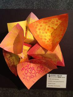 RRISD Art Show, Paper Sculpture.  Celia Z. lesson.