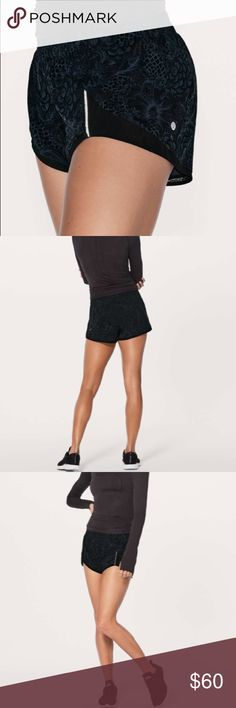 • Lululemon • Miles Ahead Shorts Nouveau Mach 6 - Lululemon - Miles Ahead Short - Nouveau Mach Blue Black - Swift Ultra Fabric  - Built In Liner - High Rise - Size 6 - New with Tags lululemon athletica Shorts