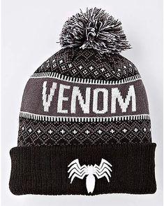 5415bd1116c Pom Venom Beanie Hat - Marvel - Spencer s