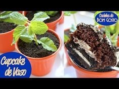 Cupcake de Vaso (terra comestível de Negresco / Oreo) | Cozinha do Bom G...