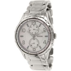 Guess Women's U0442L1 White Stainless-Steel Quartz Watch