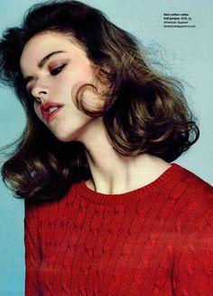 Light Knits for Spring. Stella Magazine, January 2014. #knits #red #stellamagazine