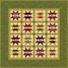 """Free Quilt Patterns : Friendship Star Quilt Pattern - 6"""" Quilt Blocks"""