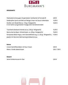 Unsere Speisekarte für diese Woche. Natürlich nur solange der Vorrat reicht  #burgmanns #restaurant  #bistro #weilheim #weilheimteck #esslingen #stuttgart #kirchheim #kirchheimteck #göppingen #lecker #fleisch #fisch #veggie #steaks #bio #regional #saisonal #familienbetrieb #aufdiehand #aufdenteller #weilheimlebt #food #instafood #foodporn #stimmungsbild #bismorgen