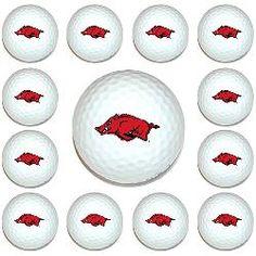 Arkansas Razorbacks Dozen Pack of Golf Balls from Team Golf