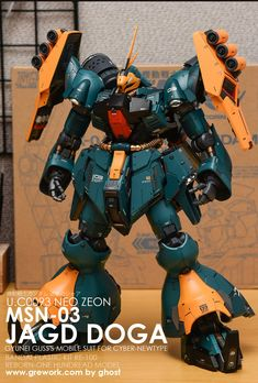 Custom Gundam, Mechanical Design, Gundam Model, Mobile Suit, Plastic Models, Godzilla, Transformers, Sci Fi, Geek Stuff