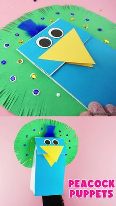 These coloful peacock puppets make a great preschool craft. Playing with puppets is great for preschoolers to help develop their speaking skills and is a great fine motor play activity. Grab our free craft template and have fun making these fun paper bag puppets. #iheartcraftythings Preschool Arts And Crafts, Animal Crafts For Kids, Classroom Crafts, Diy For Kids, Paper Bag Crafts, Paper Crafts For Kids, Crafts To Do, All About Me Crafts, Peacock Crafts
