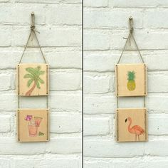 Drawing on wood wall hangings