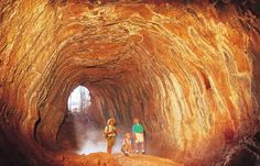 The Undara Lava Tubes are located in Far North Queensland Australia and are an ancient and geologically wonderful sight to behold. Queensland Australia, Visit Australia, South Australia, Western Australia, Australia Travel, Cairns Queensland, Lava, Australia Tourist Attractions, Atherton Tablelands