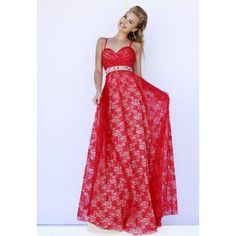 A-Line Strap Beading Ruched Tulle Long Red Prom Dress