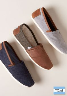 Each pair of shoes you purchase from TOMS gives a pair to a child in need.