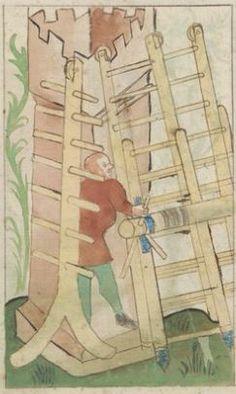 Kriegstechnik (Bilderhandschrift) Oberrhein · um 1420-1440 Ms. Rh. hist. 33b  Folio 168v