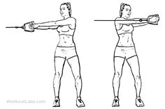 Cable core rotation is a gym work out exercise that targets abs and also involves obliques. Cable Machine Workout, Best Workout Machine, Cable Workout, Oblique Workout, Workout Machines, Gym Back Workout, Mommy Workout, Waist Workout, Workout Guide