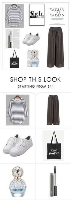 """SheIn 8/XIV"" by nermina-okanovic ❤ liked on Polyvore featuring WithChic, Balmain, Marc Jacobs, MAC Cosmetics and shein"