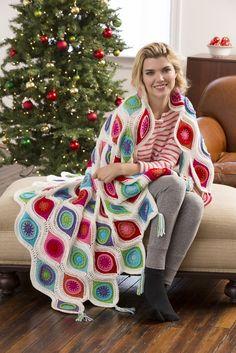 Make It Crochet | Your Daily Dose of Crochet Beauty | Free Crochet Pattern: Retro Ornament Throw