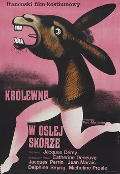 1973 Polish poster for DONKEY SKIN (Jacques Demy, France, 1970)  Artist: Wiktor Górka (1922-2004) [see also]  Poster source: Heritage Auctions  For more fabulous posters for DONKEY SKIN visit Movie Poster of the Week at mubi.com