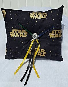 Check out this item in my Etsy shop https://www.etsy.com/listing/291225497/star-wars-wedding-ring-bearer-pillow