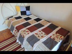 #QuiltandoNasFérias: tapete sem manta e com faixas costuradas em um tecido como fundação - YouTube