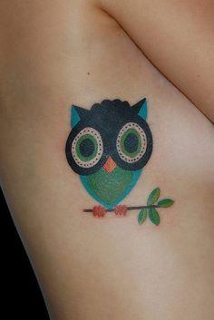 Owl tattoo # comics tattoo # cartoon tattoo # BLACKSTARSTUDIO