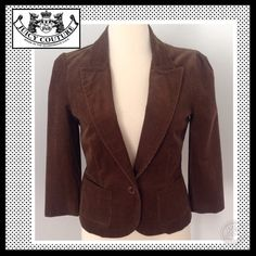JUICY COUTURE Corduroy Jacket with one button. JUICY COUTURE corduroy jacket with one button and pick lining. NWT Juicy Couture Jackets & Coats