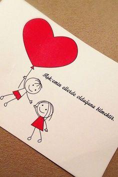 Ask var oldukda bile yok olmakdir Baby Scrapbook, Travel Scrapbook, Diy Embroidery Patterns, Stick Figure Drawing, Love Doodles, Artsy Photos, Love Wallpaper, Heart Cards, Valentines Diy