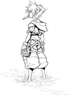 Kingdom Hearts 2 Line Art by Jake192 on DeviantArt