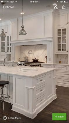 26 Wonderful White Kitchen Design Ideas And Decor. If you are looking for White Kitchen Design Ideas And Decor, You come to the right place. Here are the White Kitchen Design Ideas And Decor. Grey Kitchen Cabinets, Kitchen Cabinet Design, Modern Kitchen, Kitchen Diy Makeover, Home Kitchens, Kitchen Style, Kitchen Renovation, White Kitchen Design, Shabby Chic Kitchen