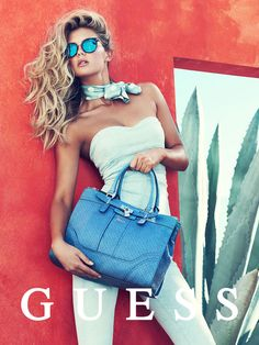 guess spring accessories 2014 pulmanns6 Megan Williams + Heather Depries Model for Guess Accessories Spring 14 Ads by Pulmanns