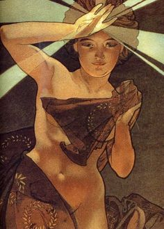 Morning Star by Alphonse Mucha, 1902.