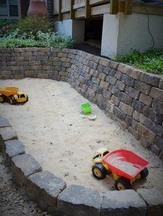 DIY Steine Sandkasten bauen