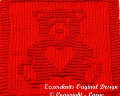 Knitting Cloth Pattern - SWEETHEART BEAR - PDF