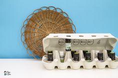 Une Boite d'œufs pour ranger les huiles essentielles #upcycling #boitedoeuf #DIY #recupere #recyclage #deco #maison #ranger #rangement #ecologique #reutiliser #zerodechet #zerowaste #slowlife #upcycling