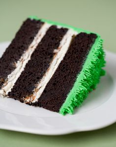 A deeply sophisticated, scrumptiously lovely sounding St. Patrick's Day dessert: Chocolate Stout Cake with Dulce de Leche and Vanilla Bean Buttercream. #cake #chocolate #beer #food #St_Patricks_Day