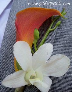 Gilded Petals Boutonniere