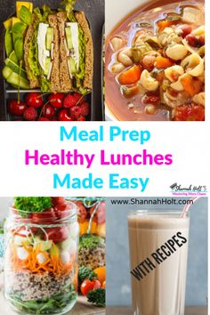 Are you ready for the easy way to meal prep your lunches? Check out this ultimate guide on simple ways to plan your healthy lunches without spending all weekend in the kitchen. Tons of easy recipes included. Healthy meal planning for moms Lunch Meal Prep, Healthy Meal Prep, Easy Healthy Recipes, Real Food Recipes, Healthy Eating, Healthy Lunches, Simple Recipes, Delicious Recipes, Healthy Life